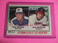 1978 Topps #206 Nolan Ryan Phil Niekro Strikeout Leaders Card NrMt NM sharp