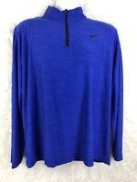 Nike Dri-FIT 1/4 Zip Pullover Jacket Blue Mens jacket Size Large
