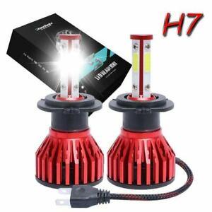 2PCS H7 6000K Super White LED Fog Light Bulbs Kit 960000LM Hi/Lo Beam Lamp White