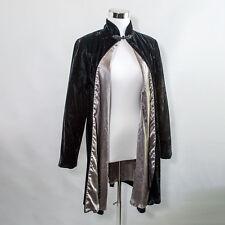 Vintage Patra Black Velvet Silver Lined Formal Evening Opera Coat Size S Vtg
