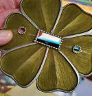 Vintage Stock Anthropologie Leaf Enamel Metal Single Light Switch Cover Plate