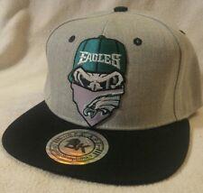 Philadelphia Eagles Hat Flat Bill Heather Gray Snapback Ball Cap Eagles Punisher