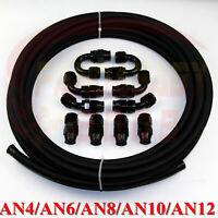 AN4 AN6 AN8 AN10 AN12 PTFE teflon e85 oil hose end fitting adapter kit 3FEET/1M