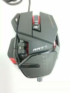 Mad Catz RAT 6 Laser Gaming Mouse for PC MCB4373200A3/04/1 Black/Red Ships Free!