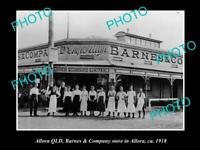 OLD POSTCARD SIZE PHOTO OF ALLORA QLD BARNES & Co EMPORIUM STORE c1918