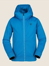 2019 NWT BOYS VOLCOM GROHMAN FLEECE $50 M Blue zip hoodie soft fleece