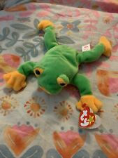 Ty 1997 Smoochy the Green Frog Beanie Baby - Rare - New with Tag
