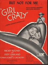 1943 George & Ira Gershwin Movie (Girl Crazy) Sheet Music (But Not For Me)