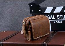 Retro Men's Genuine Leather Pouch Pocket Purse Wallet Belt Fanny Waist Pack Bag