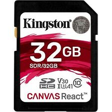Memoria Kingston Sdr/32gb 32GB SDHC Canvas React 100r