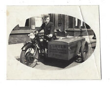 BIRKENHEAD Cliffes Radio Services Delivery Motor Bike - Vintage Photo c1930s