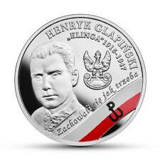 """Poland 2017 10 zl. Silver Coin The Enduring Soldiers Henryk G. """"Klinga"""" - """"5"""""""