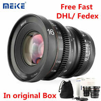 Meike 16mm T2.2 MF Wide Angle Cinema Lens for M4/3 MFT Panasonic BMPCC 4K Camera