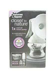 Tommee Tippee Closer To Nature Manual Breast Pump Expressables System - White