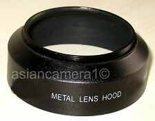 49mm Metal Lens Hood Anti-Glare Sun Shade Screw-in Mount Black Fits 49 mm U & S