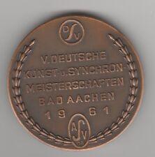 Orig.Teilnehmermedaille   Deutsche Meisterschaft im Schwimmen 1961  !!  RARITÄT