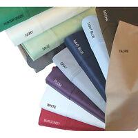 Grab It! 4 PCs Bedding Sheet Set 1000 TC Egyptian Cotton Full Size Solid Colors