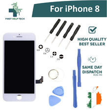 "For Apple iPhone 8 4.7"" LCD Display Touch Screen Digitizer Unit White With Tools"