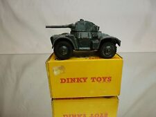 DINKY TOYS 670 ARMOURED CAR - MILITARY - ARMY GREEN - GOOD IN REPLICA BOX