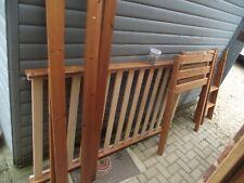 Pine single mid sleeper bed frame