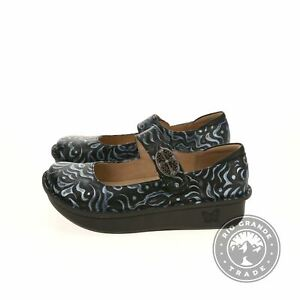 NEW Alegria PAL-437 Women's Paloma Mary Jane Shoes in Gothic Steel - 7