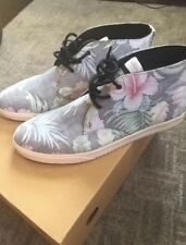 Clae Hawaiian Men's Floral Mid/high Sneakers  Size 12 Never worn Brand New Box