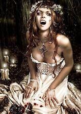 Victoria Frances Vampiro Niña Sexy Gótico Fantasía A3 impresión de arte poster GZ5554
