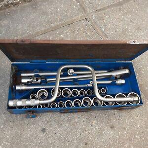 vintage Kampmann half inch drive vintage socket set 28 piece