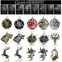 Game of Thrones House Stark Keychains Badges Metal Pendant Key Ring Collection