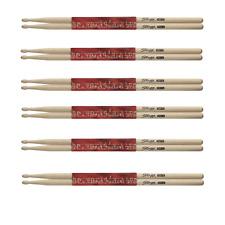 6 Paires de Baguettes Batterie Erable Pointe Bois 5A
