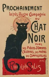 Chat Noir Poster Fine Art Lithograph Theophile Alexandre Steinlen Hand Pulled S2