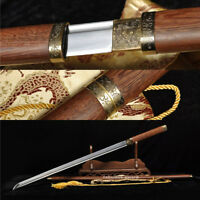 39' 1060 HIGH CARBON STEEL ROSEWOOD  HANDMADE JAPANESE SAMURAI TANG SWORD