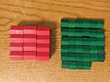 Monopoly Deluxe Game - Replacement Pieces (12 Wooden Hotels & 34 Wooden Houses)
