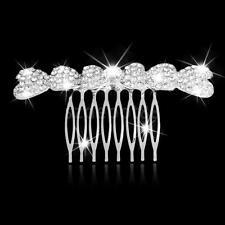 Crystal Diamante Bow Hair Comb Prom WEDDING Bridal Party Headpiece Hair Clip