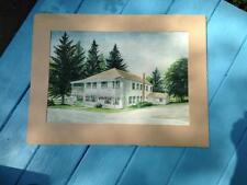 Jefferson Trailside Inn Thompson , Pa. original watercolor painting Ted Bosak