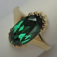 Ring mit Turmalin tourmaline aus 8 Kt. 333 Gold Finger Damen Ringe Gr. 67