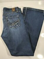 BKE Buckle Denim Hannah Boot Cut Distressed Dark Wash Jeans, Size 30x31.5