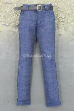 1/6 Scale Toy Female Biker Uniform Set - Blue Denim Like Jeans w/Belt