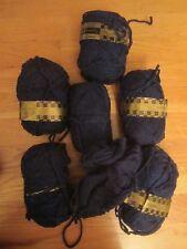 Spinnerin Ski Sprint Mohair/Wool/Vinyon navy blue 6 1.76oz skeins NEW!