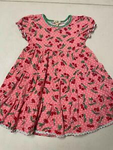 MATILDA JANE CHERRY PRINT PINK COTTON SWING DRESS GIRLS   SZ   6    PLAY