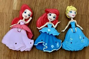Disney Princess Little Kingdom Doll Figures Clip on Dresses Ariel Cinderella