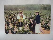 """Vintage Postcard """"Garden Of Love"""" Garden Of Growing Babies Unused"""