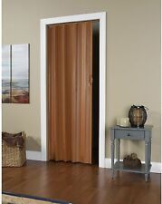 Fruitwood Accordion Panelfold Folding Door 80 inches high x 24-36 inches wide