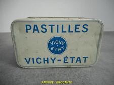 BOITE PUBLICIATIRE EN METAL PASTILLES VICHY ETAT
