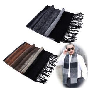 Men Winter Warm Classic Scarf Pashmina Striped Acrylic Fibers Shawls Scarves ti
