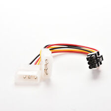 2 Pcs Dual (2x) Molex (4 Pin) to PCI-E (6 Pin) Power Converter Adapter Cable RL