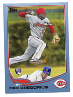 2013 Topps #296 Didi Gregorius BLUE parallel rookie RC card Phillies