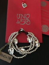 Uno De 50 Beaded Leather Statement Bracelet - NWT - A Beautiful mind - PUL0854