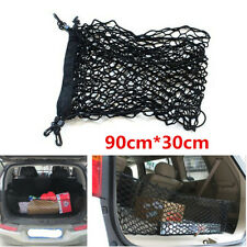 Universal Black Car Trunk Rear Cargo Organizer Storage Elastic Mesh Net+4 Hooks