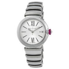 Bvlgari LVCEA Silver Opaline Dial Stainless Steel Ladies Watch 102219